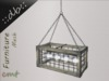 ::db:: Decorative hanging Light Cage white grunge wood