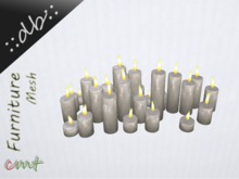 ::db:: Romantic Cluster of 29 decorative Candles white