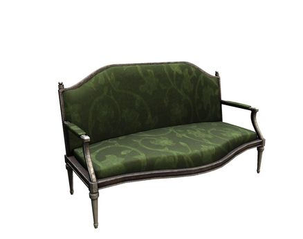 DRD - MB victorian bench green