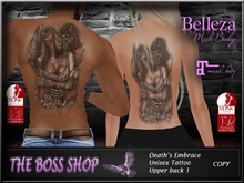 DEATH EMBRACE Unisex tattoo upper back 1