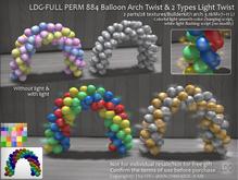 LDG-FULL PERM 884 Balloon Arch Twist & 2 Types Light Twist /2 parts/28 textures/Builderkit