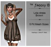 Lola dress  brown - Fit Mesh - (tm) Freeky