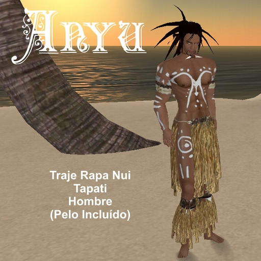 Anyu Easter Island Rapa-Nui male costume