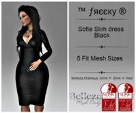 Sofia Slim dress Black - Fit Mesh - (tm) Freeky