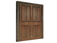 Mesh Mahogany Doors - Full Perm