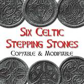 Tin Teddy Six Celtic Stepping Stones for your garden