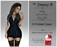 Cally - side cut dress - NAVY BLUE- Fit Mesh - Belleza,Maytreya,Slink P.(tm) Freeky