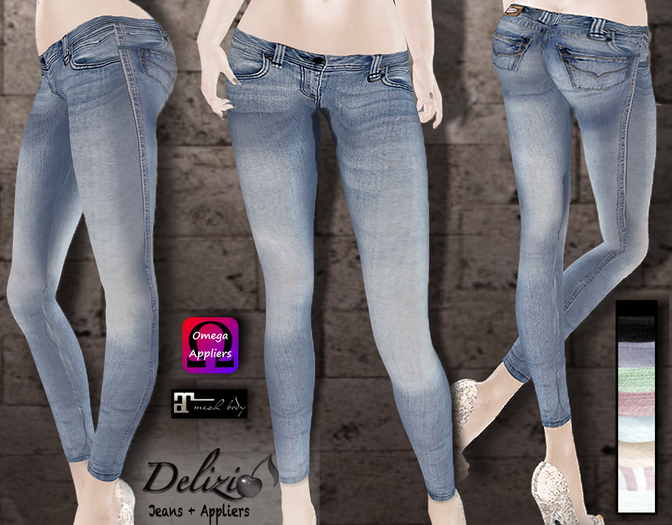 Delizio - Jeans + Applier for Maitreya & Omega - FREE GIFT