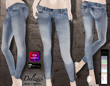 Delizio - Jeans + Applier for Maitreya Lara Mesh Body
