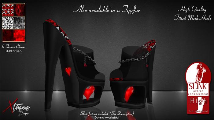 Be My Valentine Slink Heels (High)