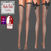 RudeCats - Bow Stockings