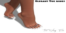 .::TWF::. Elegant Toe Rings for MAITREYA LARA Feet (High) Silver