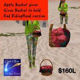Red Riding Hoods Apple Basket gives a basket to hold (bag)