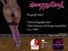 [SR] Dragonfly Tattoo - Slink Maitreya Omega