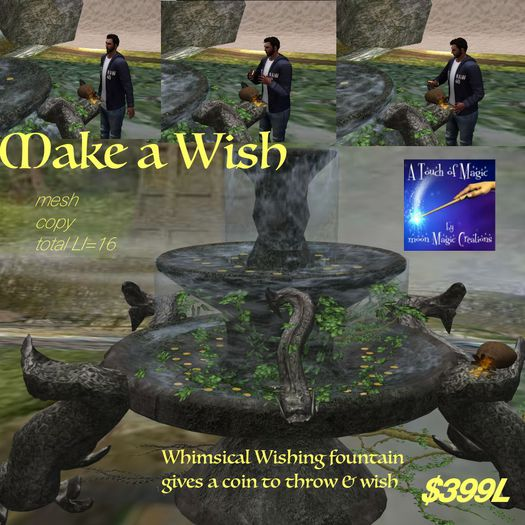 ***Wishing Coin throw Whimsical Water Fountail (crate)