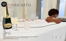 .:: AM ::. Hora Bath Tub SET (PG) - 3 Colours - No Poseballs - 17 animations - Singles & couples - In White,Black,Ivory