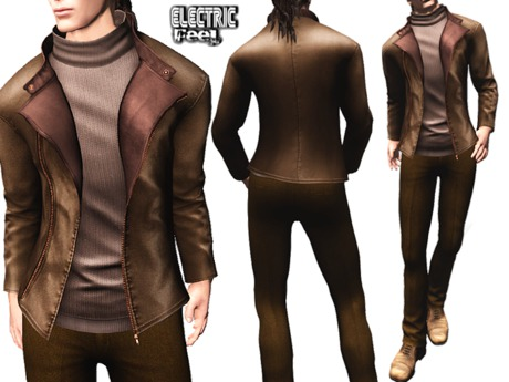EF*_* Orin Brown (outfit with jacket, pants and shoes)