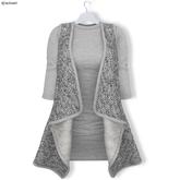 % S A L E % GAWK! LightGrey Woven Woolen Vest with Dress - Standard Avatar