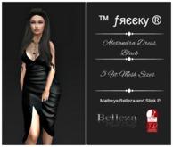 Alexandra Dress Black- Fit Mesh - (tm) Freeky