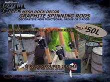 Lost Creek Cabin Decor Spinning Rods Group