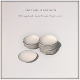[ keke ] hard to find plates - white kitchen decor (mesh)