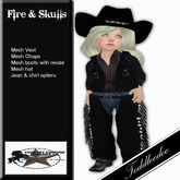 Country Couture TD Skulls & Fire Cowkid