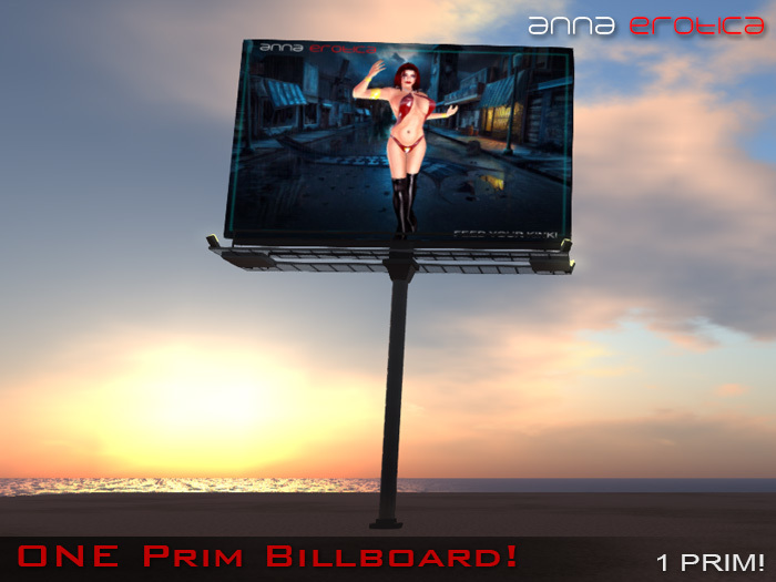 Anna Erotica - ONE Prim Billboard!