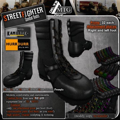 D1-MTG StreetFighter Combat Tactical Boots
