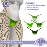 ::Static:: Tanga Panties - Greens