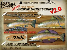 Lost Creek MESH Brown Trout Mount Set v2