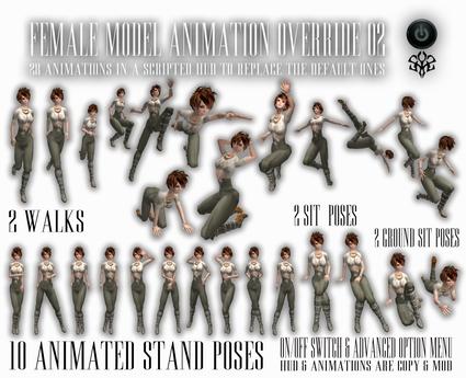 *zip* Female Model AO 02 - animations override
