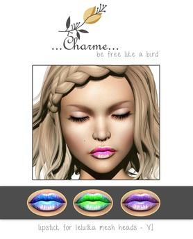 charme - Lipstick for Lelutka Mesh Heads VI