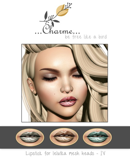 charme - Lipstick for Lelutka Mesh Heads IV
