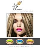 charme - Lipstick for Lelutka Mesh Heads III