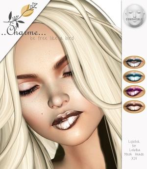charme - Lipstick for Lelutka Mesh Heads XIV NEW!