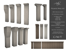 [AC] Mesh Pillar & Wall Set - 8 Models - 1Li Each - Full Permissions