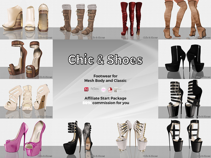 Second Life Marketplace Chic Shoes Franchise Start Package 50 Commission Affiliate Reseller Program
