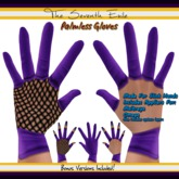 The Seventh Exile: Palmless Gloves - Purple