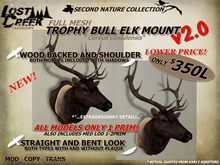 Lost Creek Bull Elk Shoulder Mount MESH  v2