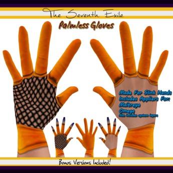 The Seventh Exile: Palmless Gloves - Orange