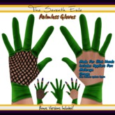 The Seventh Exile: Palmless Gloves - Green