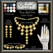 Beloved Jewelry : Umi Pearl Set (Texture Change) 4 Piece Set, Earrings, Necklace, Bracelets, Ring, Silver Gold