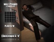 !NFINITY Cozy Pyjama Male Plaid B/W BOX