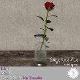 .::Hazeel::. single Rose vase