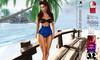 Royal blue bikini ads