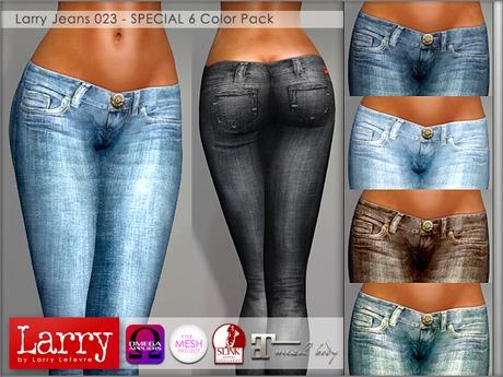 LARRY JEANS - 023 V-Cut - 6 Color Pack