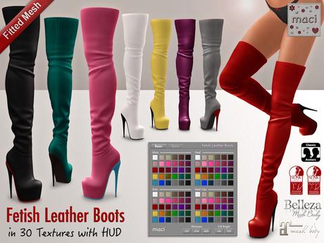 Maci ~ [PROMO] Fetish Leather Boots