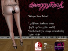 [SR] Winged Rose Tattoo - Slink Maitreya Omega