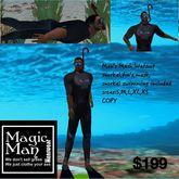 Men's mesh Wetsuit with snorkel set swim animated(Box)