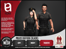 (epia) - Police Uniform BLACK